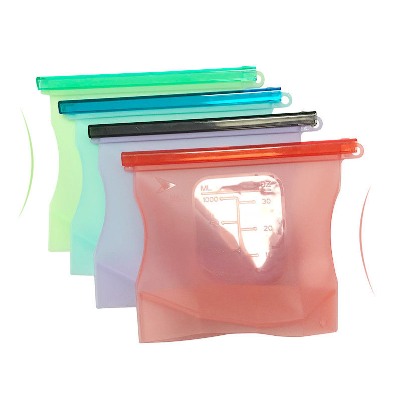 New Eco-friendly Silicone Kitchen Utensils Keeping Fresh Storage Bag 1L 1.5L BPA Free