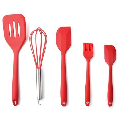 China High Quality Silicone Kitchen Utensil Set 5 Piece Cooking Tools Utensils Brush Kitchen Accessories factory