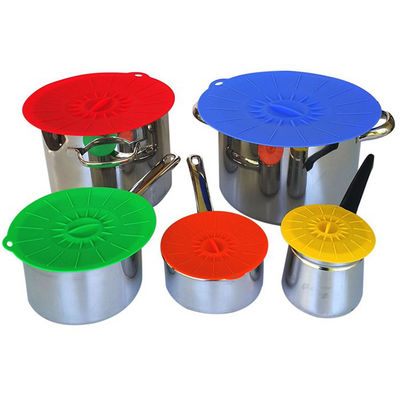 China Food Fresh Silicone Cooking Lids For Bowls , Eco - Friendly Silicone Cup Lids factory