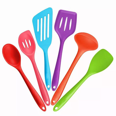 China Customized Colorful Silicone Cooking Utensils Set , 21*3cm Cooking Utensils Spatula factory