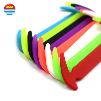 China Non - Toxic Slip Ons Silicone Shoe Laces Any Colors Are Available Non - Stick factory